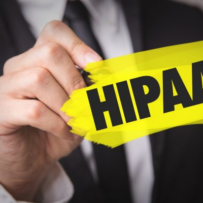 HIPAA - health insurance portability and accountability act sign