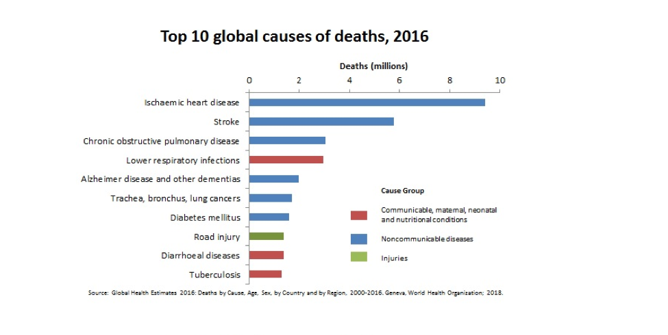 Top ten global causes of death