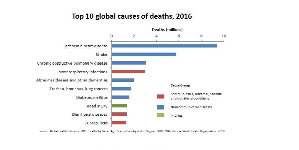 Top ten global causes of death
