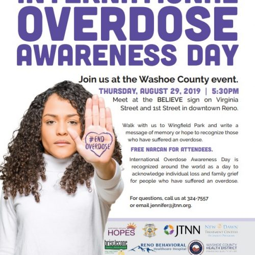 International Overdose Awareness Day @ The Reno Believe Sign