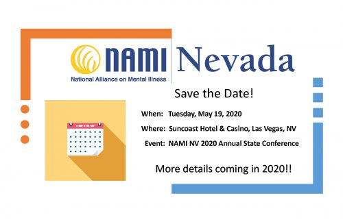 NAMI Conference Save the Date May 19, 2020