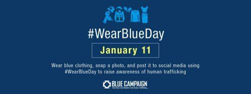 National Human Trafficking Awareness Day #WearBlueDay