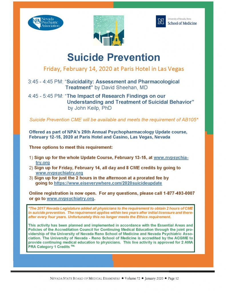 Suicide Prevention @ Paris Hotel in Las Vegas