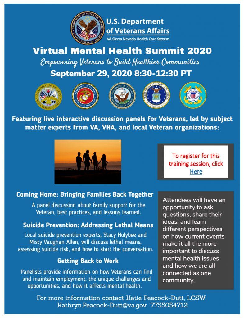 VA Mental Health Summit Flyer - Click Here for Registration