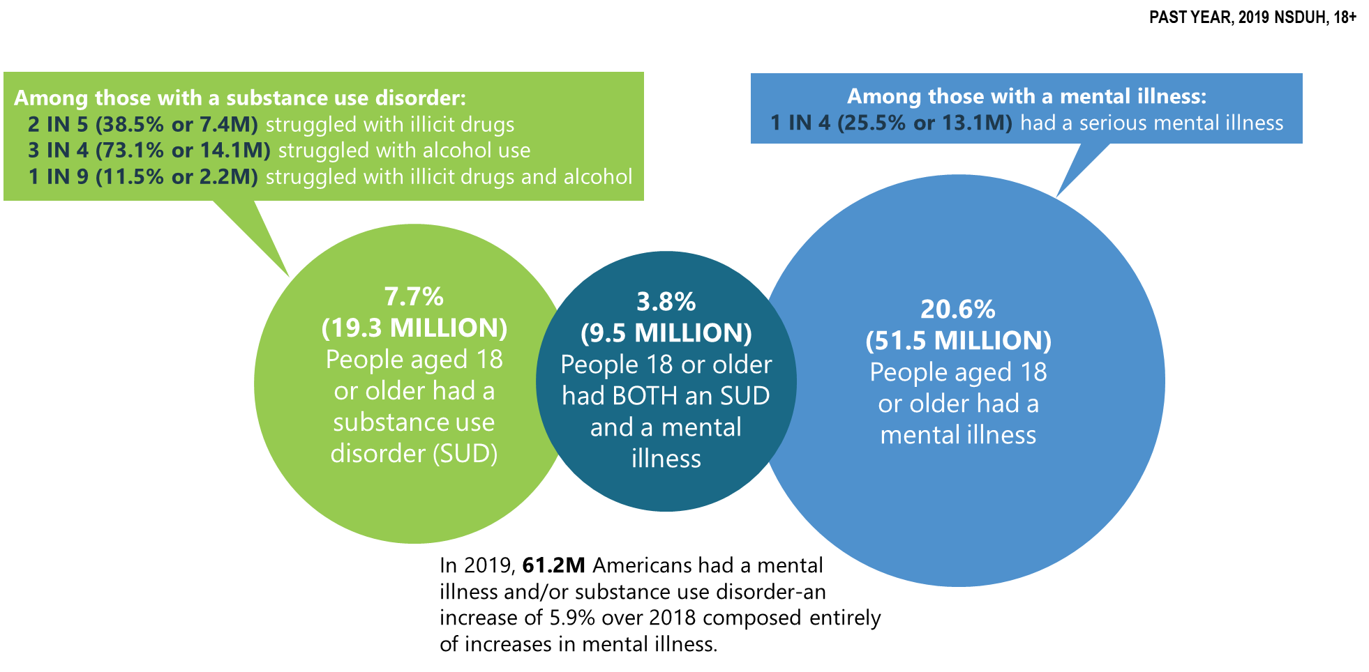 opioid misuse in the United States in 2019 compared to 2018