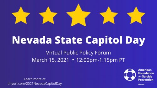 AFSP 2021 Nevada State Capitol Day Event @ Virtual Event