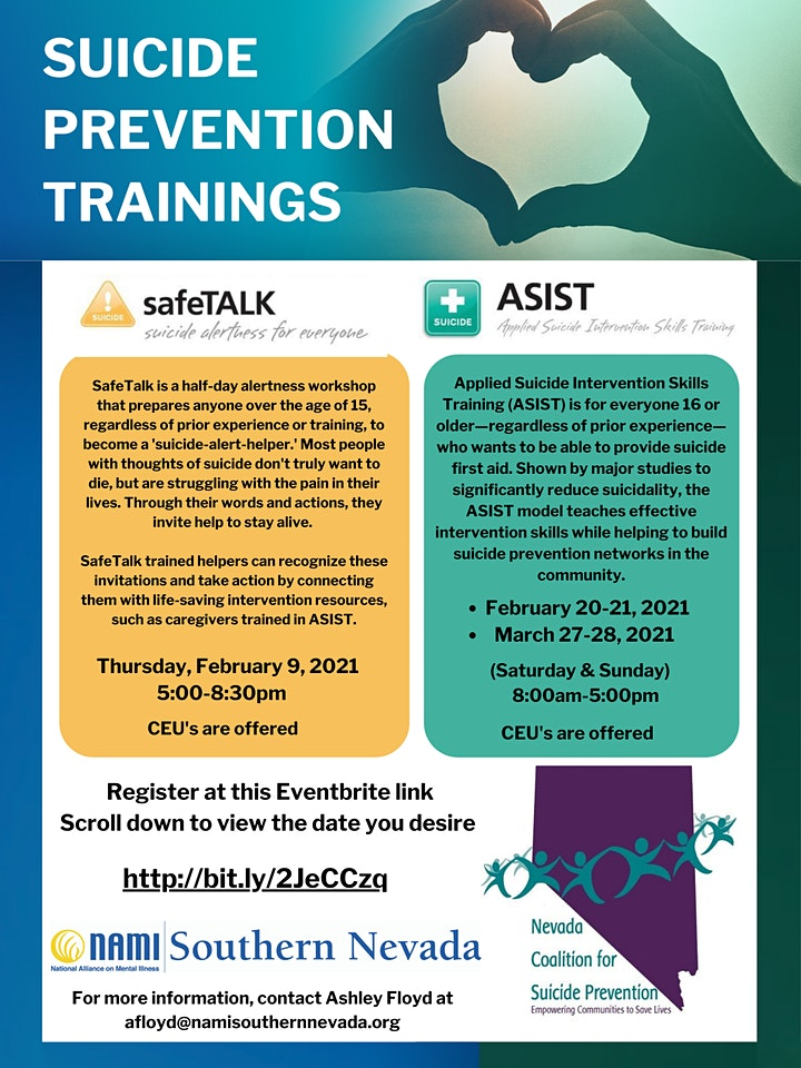 Suicide Prevention Training: ASIST @ Foundation for Recovery (Room #3)