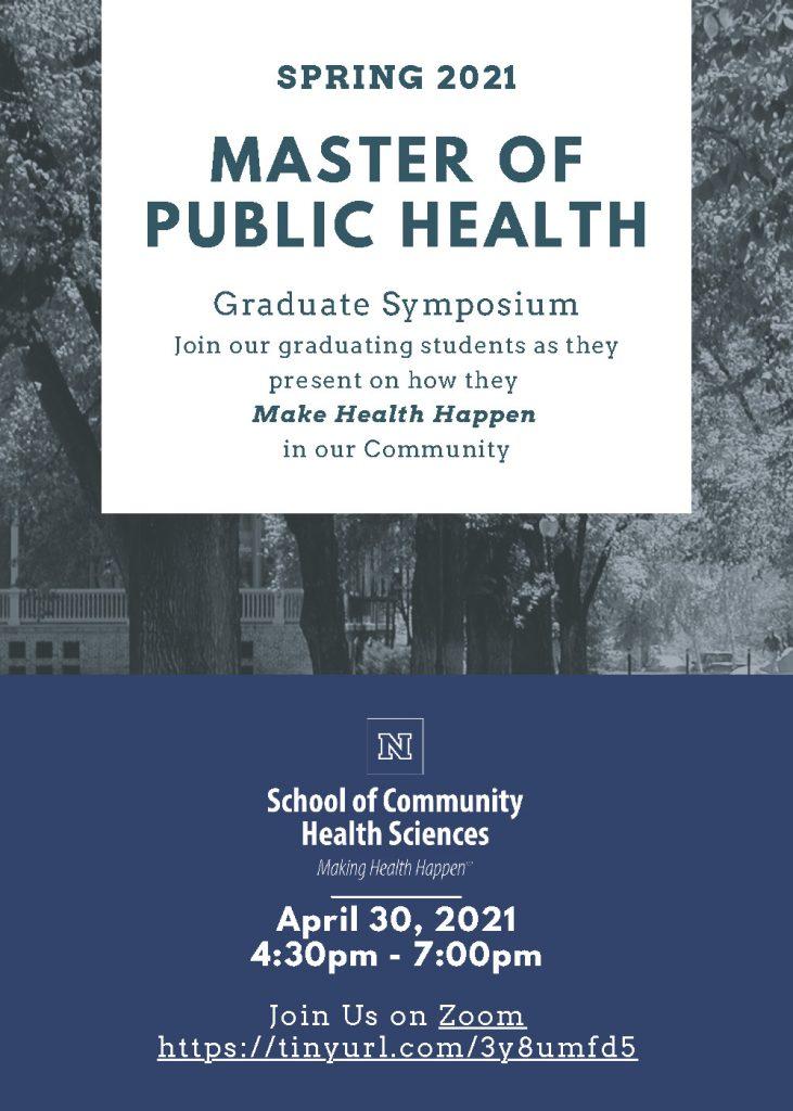 Master of Public Health Graduate Symposium @ Virtual Event