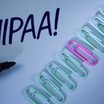 Word writing text Hipaa Motivational Call. Business concept for Health Insurance Portability and Accountability Act written Plain Blue background Paper Clips and Marker next to it.