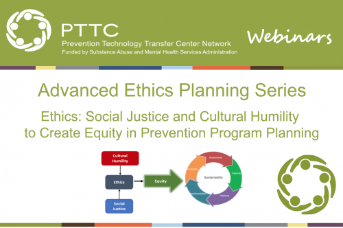 PTTC Webinars: Join the Advanced Ethics Planning Series on Ethics: Social Justice and Cultural Humility to Create Equity in Prevention Program Planning