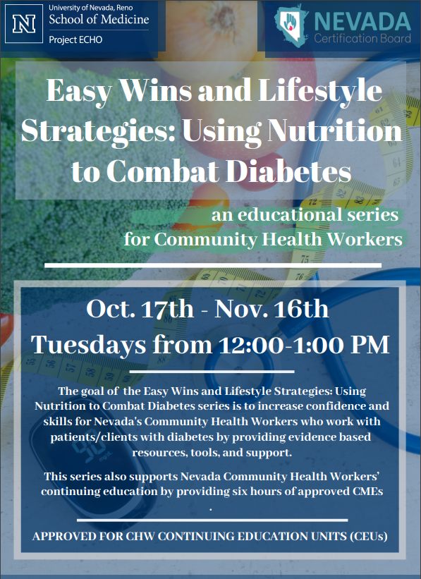 Project ECHO Nutrition Education Series @ Virtual Event